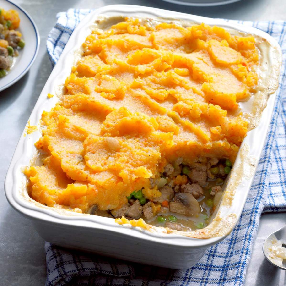 Winter Gemüse Shepherds Pie / Truthahn