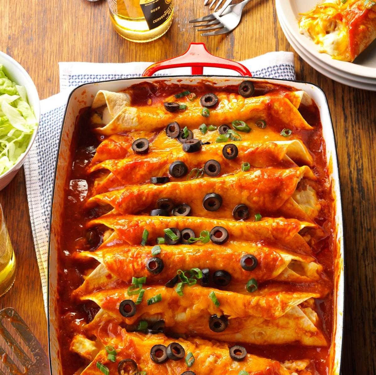 Zippy Huhn Enchiladas / Super Bowl, März Wahnsinn (Winter / Indoor)
