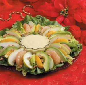 Winter-Salat mit Orangencreme / Salate